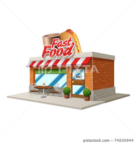 Fast Food Cafe 74830944