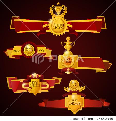 Award Banners Set 74830946