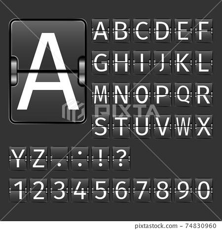 Airport Board Alphabet 74830960