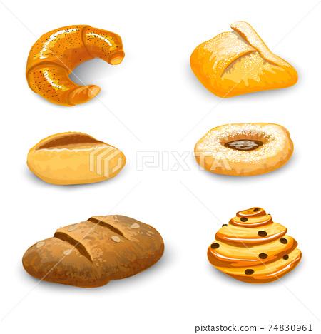 Bakery Set Isolated 74830961