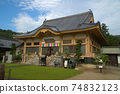 [New Shikoku Mandala Sacred Ground] No. 1 Torinin Hombo and the sky near the end of the rainy season Naruto City, Tokushima Prefecture 74832123