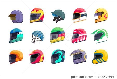 Sport racing uniform helmet with closed visor set 74832994