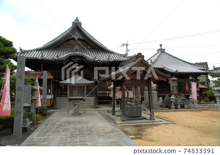 [시코쿠 서른 여섯 부동 영지] 열 세번째 번 密厳寺의 본당과 大師堂 도쿠시마 현 도쿠시마시 74833391