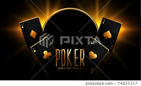 casino poker game background in black and gold colors 74835157