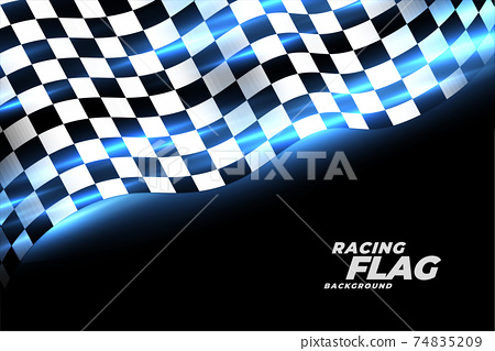 racing checkered flag sports background design 74835209
