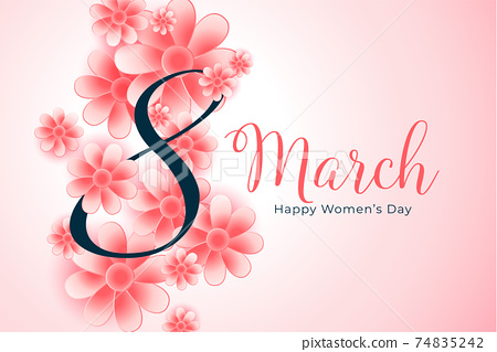 realistic international women's day celebration card design 74835242
