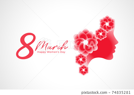 8th march international women's day background design 74835281