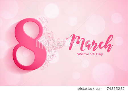 8th march background for women's day celebration 74835282