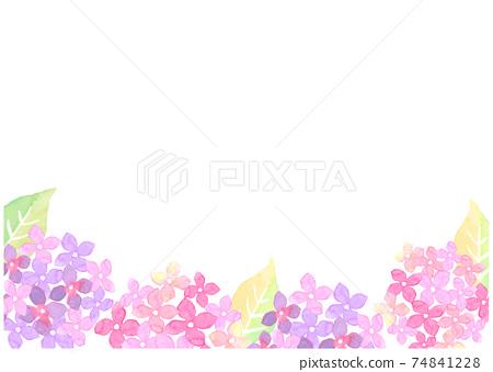 水彩畫的繡球花的插圖 74841228