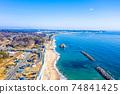 겨울 磯浜 해안과 먼 二쯔島 (이바라키 현 기타 이바라키시) 74841425