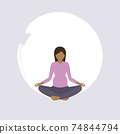 pregnant woman doing yoga exercise healthy lifestyle fitness design 74844794