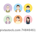 Three generation family icon smile illustration material 74846461