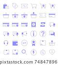 Colored line E-commerce Icons 74847896
