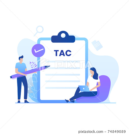 Term and conditions illustration concept. Illustration for websites, landing pages, mobile applications, posters and banners 74849089