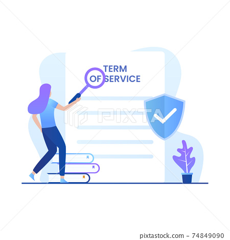 Flat illustration of term and conditions. Illustration for websites, landing pages, mobile applications, posters and banners 74849090