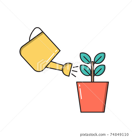 Home Gardening Concept Icon isolated on white background. Vector Illustration 74849110