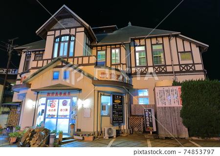 【오이타 현】 역전 고등 온천의 야경 (벳푸 온천) 74853797