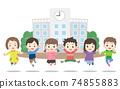 跳躍的孩子和學校 74855883