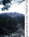 從後山步道看到的五座山登山藤內牆 74856716