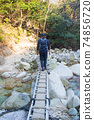 後山步道上的Gozaisho山步道橋 74856720