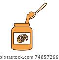 오렌지 잼 74857299