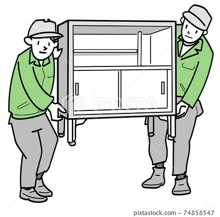 兩人抬行李搬家具 74858547