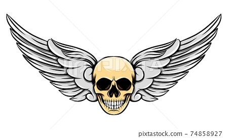 The short angle wings with the unique human dead skull 74858927
