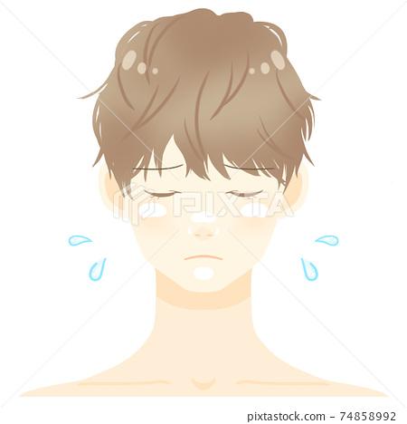 갈색 머리 남성 피부 타입 별 지성 肌荒 74858992