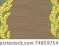 含羞草花相框 74859754