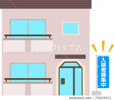 "An apartment with a ""recruiting tenants"" nobori 74859911"