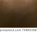 Close up of brown leather background or texture 74860388