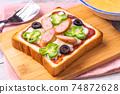 Pizza toast 74872628