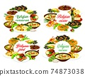 Belgian cuisine food, restaurant dishes 74873038