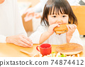 A little girl to eat 74874412