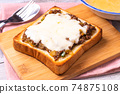 Dry curry cheese toast 74875108