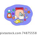 手工糖果配料的圖像插圖 74875558