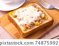 Tuna corn toast 74875992
