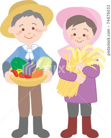 農民的老夫妻 74876032