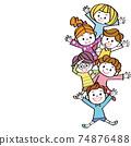 Children's gathering margin, energetic copy space 74876488