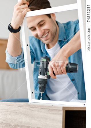 Handyman furniture assembly worker, repair and move into new house 74881255