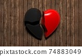 Broken heart. There is no love. Not Loving a person, separation and depression. 74883049