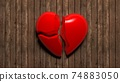 Broken heart. There is no love. Not Loving a person, separation and depression. 74883050