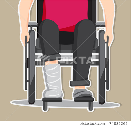 Disabled people illustration vector, World Disability Day 74883265