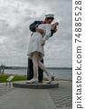 Kissing sailor statue, Port of San Diego. California, USA 74885528