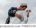 Kissing sailor statue, Port of San Diego. California, USA 74885530