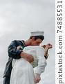 Kissing sailor statue, Port of San Diego. California, USA 74885531