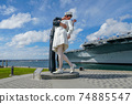 Kissing sailor statue, Port of San Diego. California, USA 74885547