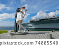 Kissing sailor statue, Port of San Diego. California, USA 74885549