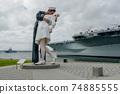 Kissing sailor statue, Port of San Diego. California, USA 74885555
