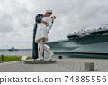 Kissing sailor statue, Port of San Diego. California, USA 74885556